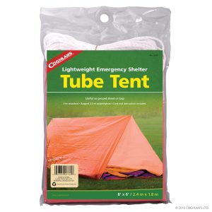 Tube tent, carpa de emergencia.