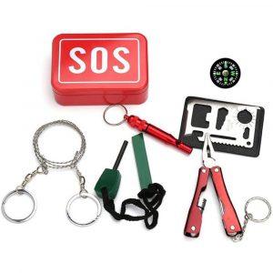 Kit de supervivencia SOS, 6 en 1, caja multifuncional, Basic
