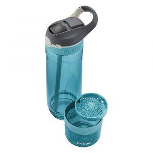 Botella de agua con infusor, Contigo de 26 onzas, verde, unisex